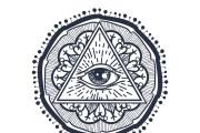50 printable mandala illuminati coloring pages 9 - kwork.com