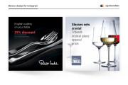 Instargam banner, advertising for Instagram social network post design 6 - kwork.com