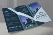 I will design corporate tri-fold or bi-fold brochure for business 10 - kwork.com