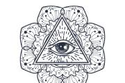 50 printable mandala illuminati coloring pages 10 - kwork.com