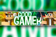 Full Design of the YouTube channel. Banner for Youtube, avatar 10 - kwork.com
