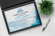 Professional Certificate Design 9 - kwork.com
