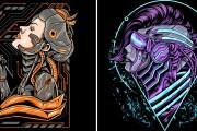 I will give you original 700 dark art, mascot designs for commercial 8 - kwork.com