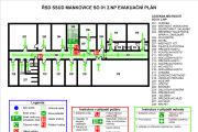 Emergency evacuation plan, map 16 - kwork.com
