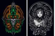 I will give you original 700 dark art, mascot designs for commercial 6 - kwork.com