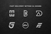 I will design professional initials monogram logo 9 - kwork.com