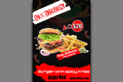 I will do professional business flyer design, food flyers in 24 hours 6 - kwork.com