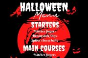 I will design halloween cards, flyers, brochures, posts 8 - kwork.com