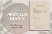 Price list and menu design 12 - kwork.com