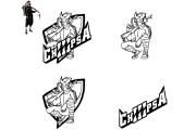 Make a sketch of mascot logo 12 - kwork.com