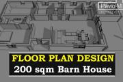 Creative Floor Plan Design of House 2D, 3D Drawings 8 - kwork.com