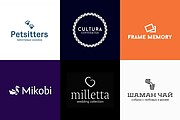 Huge set of modifiable logos 4 - kwork.com