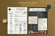 Restaurant menu 6 - kwork.com