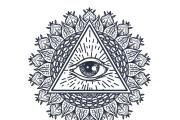 50 printable mandala illuminati coloring pages 11 - kwork.com