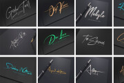 I will create a stunning signature logo 4 - kwork.com