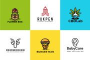 I will design a clean minimalist and modern business logo design 5 - kwork.com