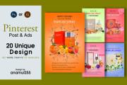 I will create pinterest pins post viral pinterest image design for you 4 - kwork.com
