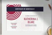 Registration of a certificate, a certificate of commendation 4 - kwork.com