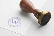 I will create stamp, press form 8 - kwork.com