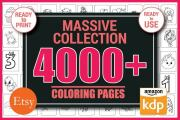 I will give you 4000+ coloring pages and kdp interior for kids 14 - kwork.com