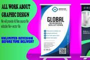 I will design a poster sign yard Roll up banner 6 - kwork.com
