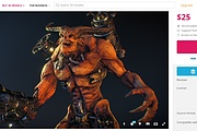 Download any model from Sketchfab.com, for a much smaller amount 11 - kwork.com