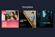 18 web banners templates pack 9 - kwork.com
