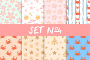 Sell Seamless Patterns Sets 10 - kwork.com