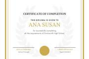 Certificates Design 6 - kwork.com