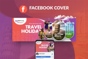 I will create Facebook cover photo and other social media banner 8 - kwork.com