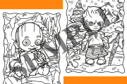 60 Halloween coloring pages for adults and kids 6 - kwork.com