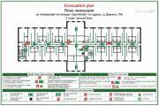 Emergency evacuation plan, map 12 - kwork.com