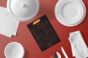 I will design, food menu, restaurant menu, price list 14 - kwork.com