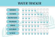 Design planner journal calendar guide checklist habbit water tracker 9 - kwork.com