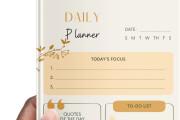 Design creative planners or journal or calendar 11 - kwork.com