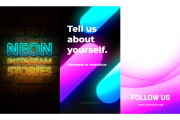 Neon Instagram stories 6 - kwork.com