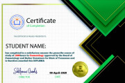 I will create an awesome certificate design 7 - kwork.com
