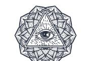 50 printable mandala illuminati coloring pages 8 - kwork.com