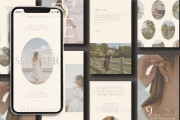 I will design instagram post and stories templates 5 - kwork.com