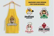 I will create 2 awesome BBQ, cafe, bakery, food restaurant logo design 4 - kwork.com