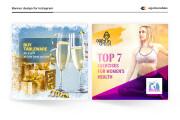 Instargam banner, advertising for Instagram social network post design 4 - kwork.com