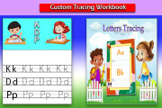 I will make handwriting practice letters tracing workbook for kids 14 - kwork.com