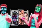 Mask for Instagram Instamaska, inscription, 3D, random and dr +Gift 5 - kwork.com