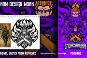 I will design a premium mascot logo for a team, sketch it in 24 hours 5 - kwork.com