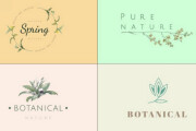 Design a botanical hand-drawn, trendy, boho modern logo 4 - kwork.com