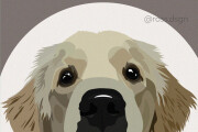 Drawing a portrait of a pet from a photo in a vector 4 - kwork.com
