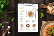 I will design, food menu, restaurant menu, price list 5 - kwork.com