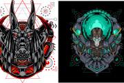 I will give you original 700 dark art, mascot designs for commercial 5 - kwork.com