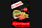 I will do professional business flyer design, food flyers in 24 hours 9 - kwork.com