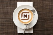 Your logo in a cup of coffee 7 - kwork.com
